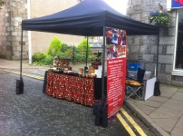 Our stall in Thistle St.